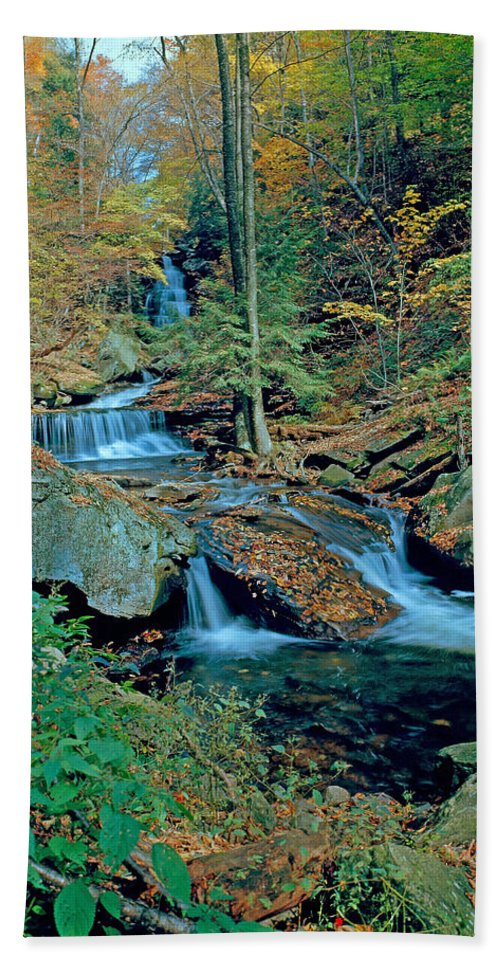 Pennsylvania Bath Sheet featuring the photograph Ozone Falls And Rapids by Rich Walter