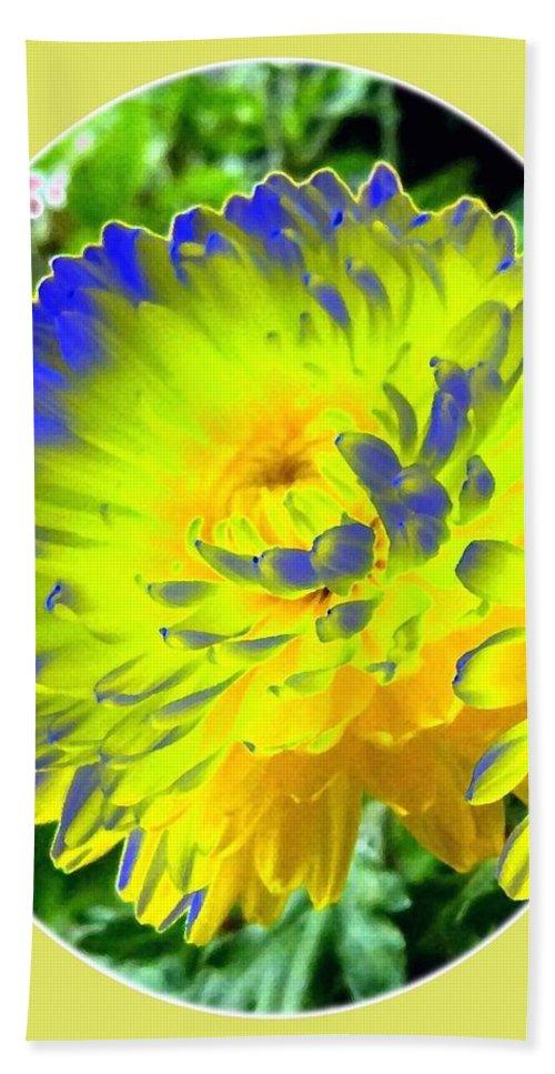 Painted Chrysanthemums Bath Sheet featuring the digital art Painted Chrysanthemums by Will Borden