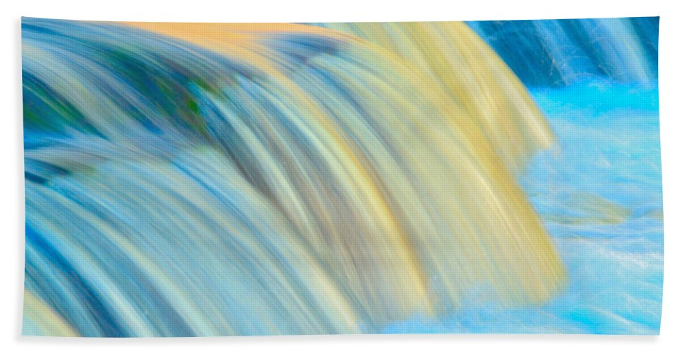 Waterfalls Hand Towel featuring the photograph Painted Falls by Joshua McCullough