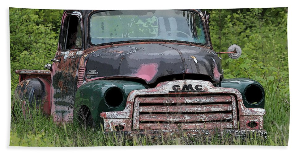 Gmc Truck Bath Sheet featuring the photograph Painted Gmc Truck by Athena Mckinzie