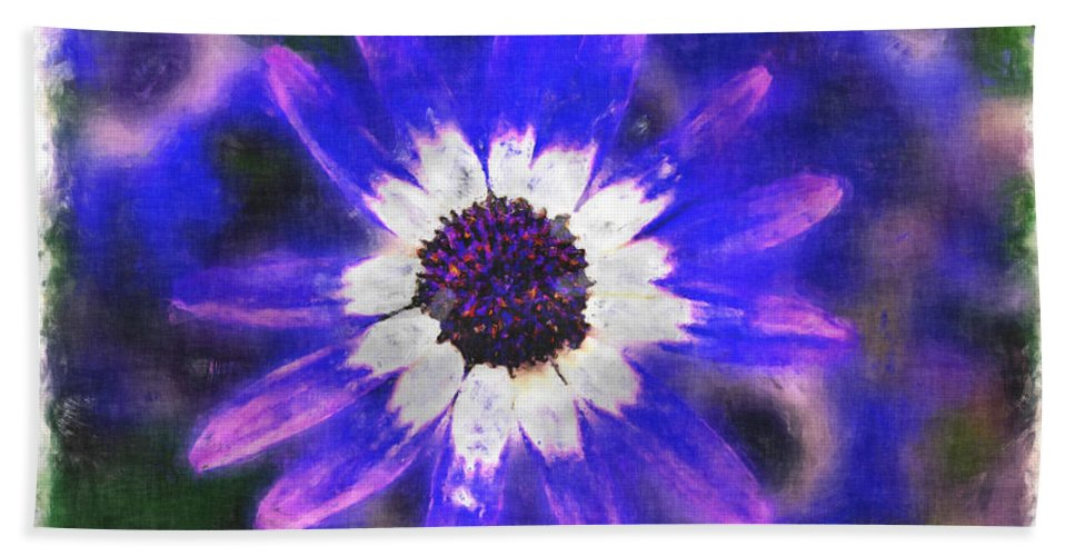 Nature Bath Sheet featuring the photograph Painted Purple by Debbie Portwood
