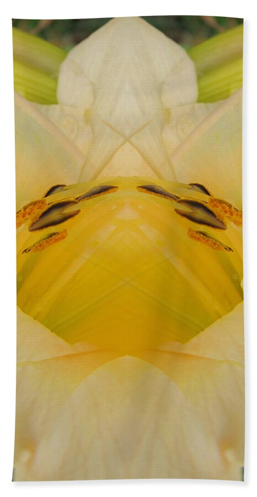 Color Blend Bath Sheet featuring the digital art Pale Yellow Fantasy by Michele Caporaso
