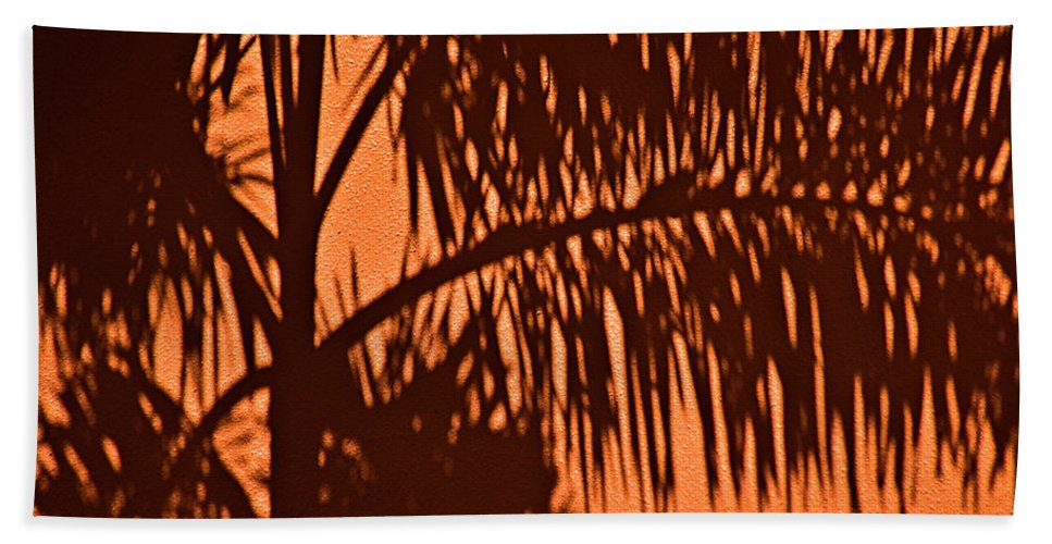 Palm Frond Hand Towel featuring the photograph Palm Frond Abstract by Carolyn Marshall