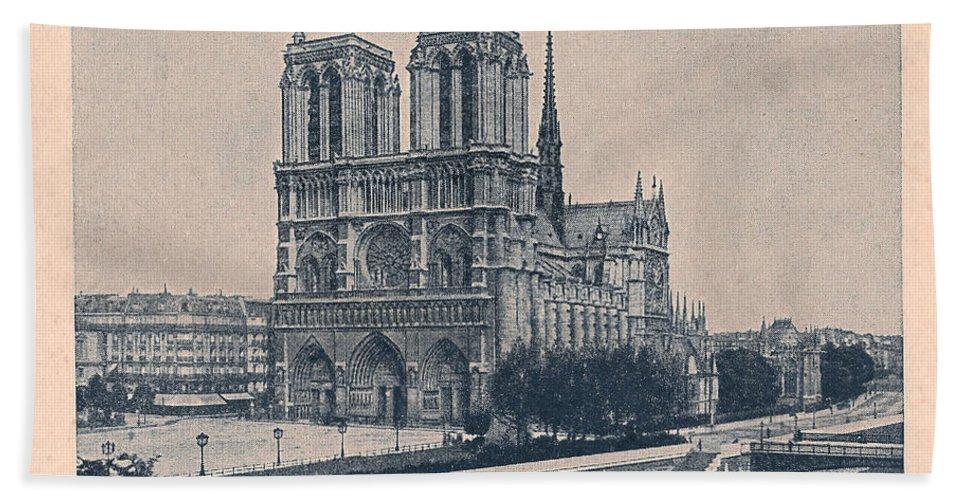 Paris Hand Towel featuring the digital art Paris - Notre Dame by Georgia Fowler