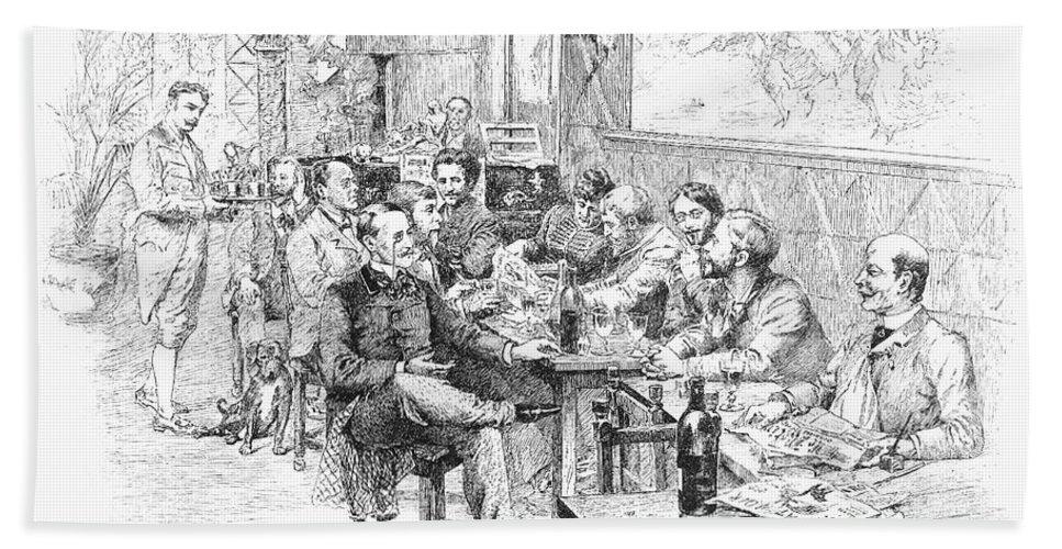1889 Bath Sheet featuring the photograph Paris: Chat Noir, 1889 by Granger