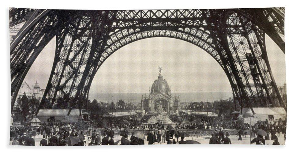 1889 Bath Sheet featuring the photograph Paris Exposition, 1889 by Granger