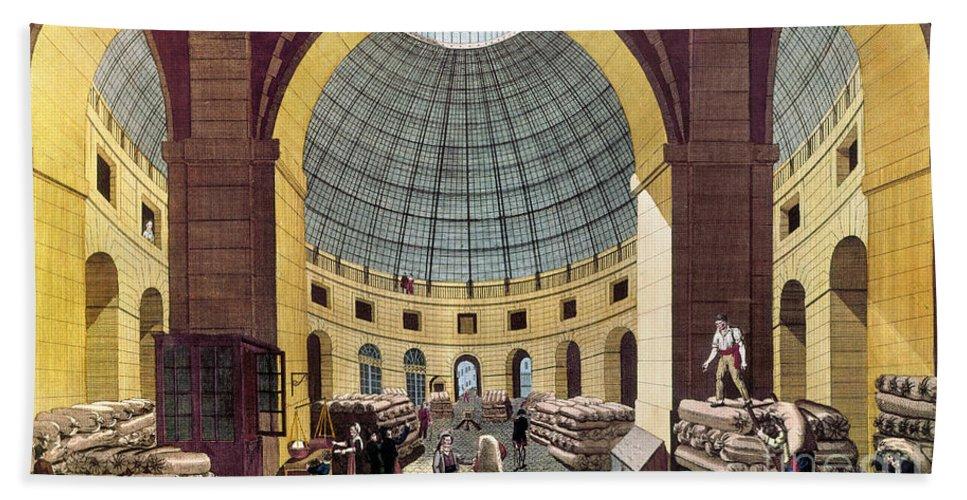 1785 Bath Sheet featuring the photograph Paris: Halle Au Ble, C1785 by Granger