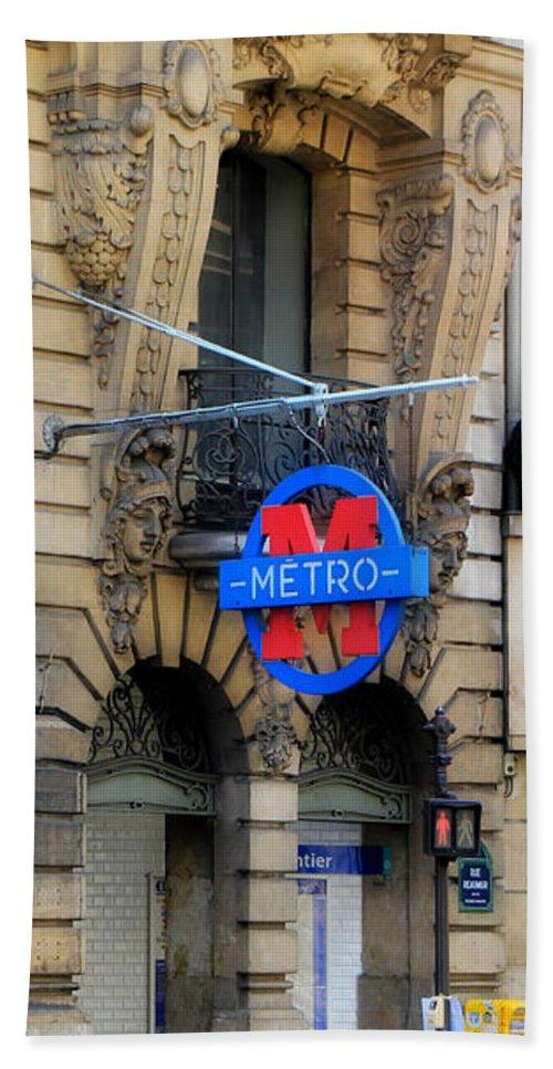 Paris Bath Sheet featuring the photograph Paris Metro 5 by Andrew Fare