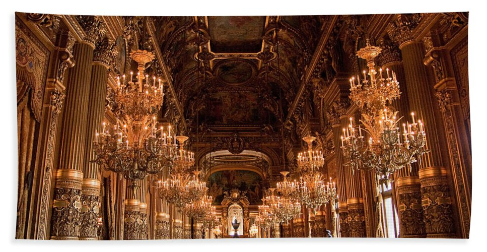 Paris Opera House Bath Sheet featuring the photograph Paris Opera House Vi by Jon Berghoff