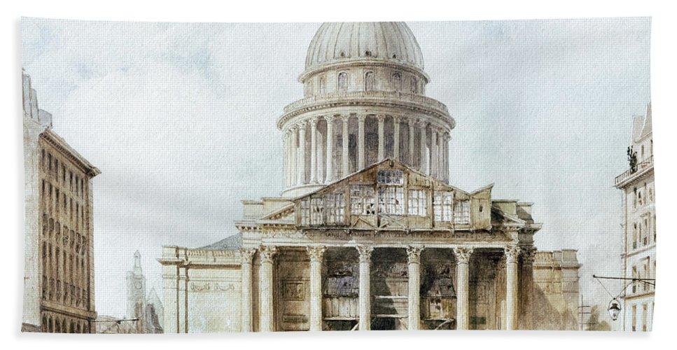 1835 Bath Sheet featuring the photograph Paris: Pantheon, 1835 by Granger