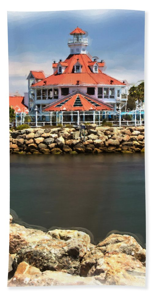 Lighthouse Bath Sheet featuring the photograph Parker's Lighthouse Charm by Heidi Smith