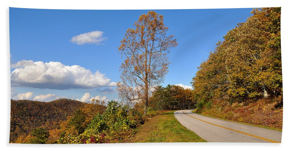 Blue Ridge Parkway Hand Towel featuring the photograph Parkway by Todd Hostetter