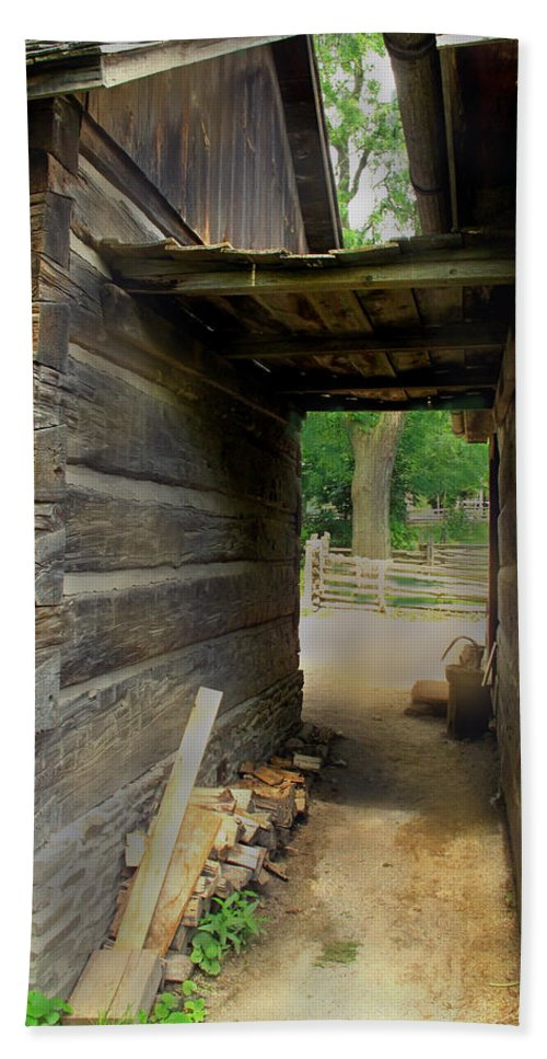 Logs Bath Sheet featuring the photograph Passage To Another Time by Ian MacDonald