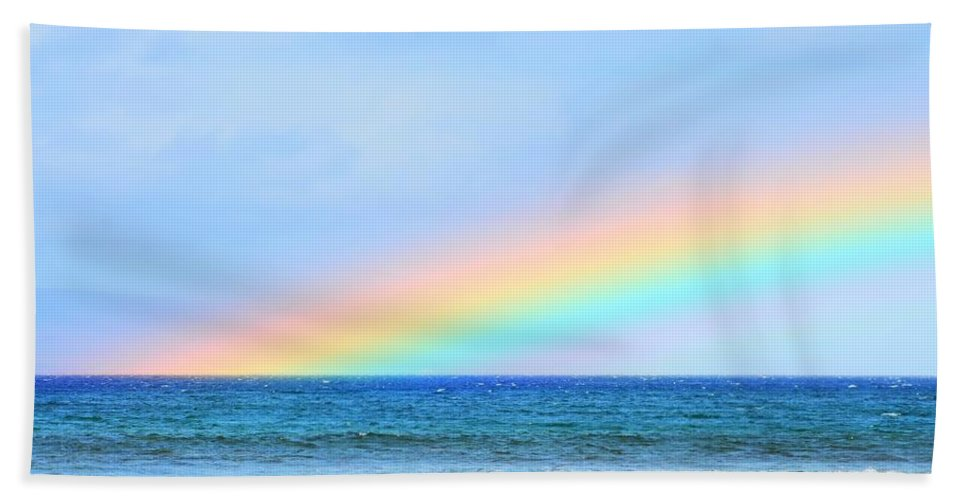 Rainbow Hand Towel featuring the photograph Pastel Rainbow by Richard Omura