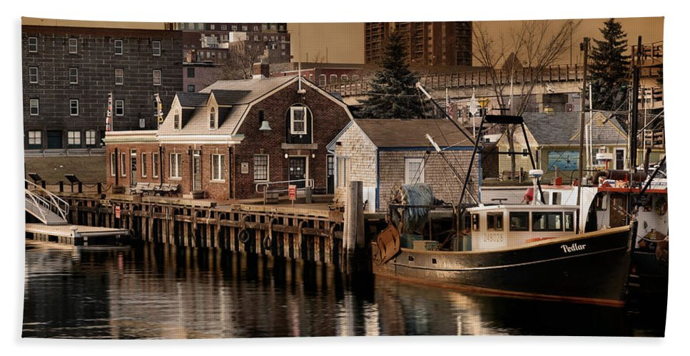 Fishing Boat Bath Sheet featuring the photograph Pedlar by Robin-Lee Vieira