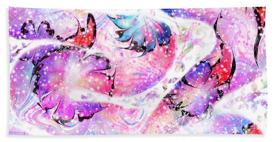Snake Bath Sheet featuring the digital art Peppermint Snake by Rachel Christine Nowicki
