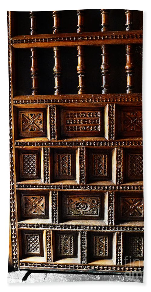 Door Bath Sheet featuring the photograph Peruvian Door Decor 18 by Xueling Zou