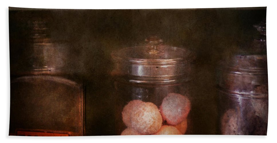 Hdr Hand Towel featuring the photograph Pharmacy - Kidney Pills And Suppositories by Mike Savad