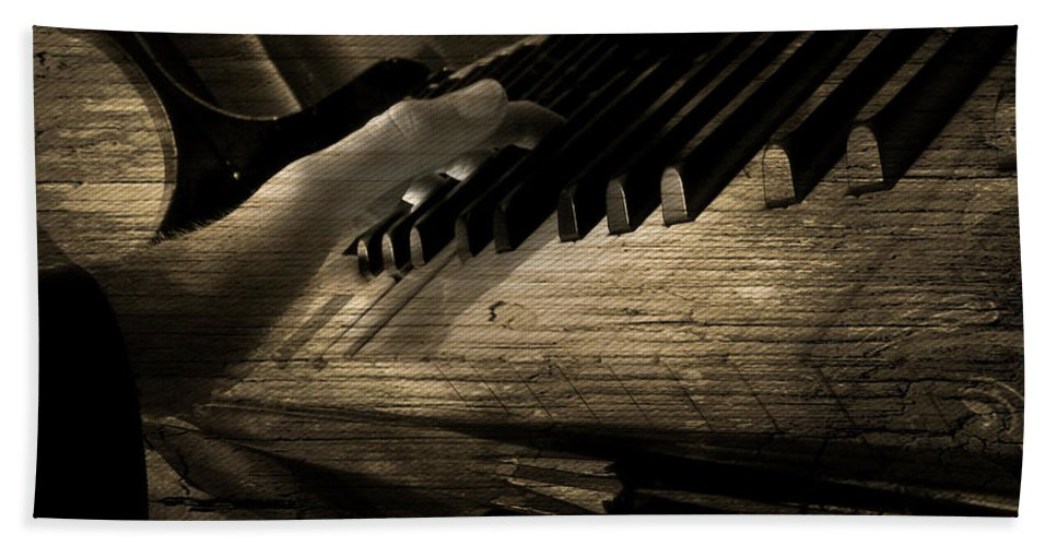 Art Photographs Photographs Framed Prints Photographs Framed Prints Framed Prints Framed Prints Photographs Framed Prints Framed Prints Framed Prints Photographs Photographs Hand Towel featuring the photograph Piano Man by The Artist Project