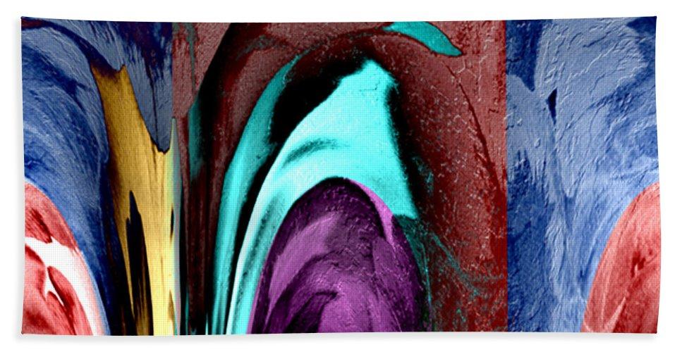 Paula Ayers Hand Towel featuring the digital art Pillar by Paula Ayers