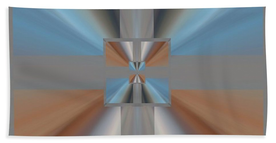 Abstract Hand Towel featuring the digital art Pinch Point by Tim Allen