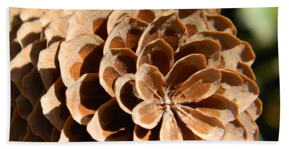 Pine Cone Bath Sheet featuring the photograph Pine Cone by Chalet Roome-Rigdon