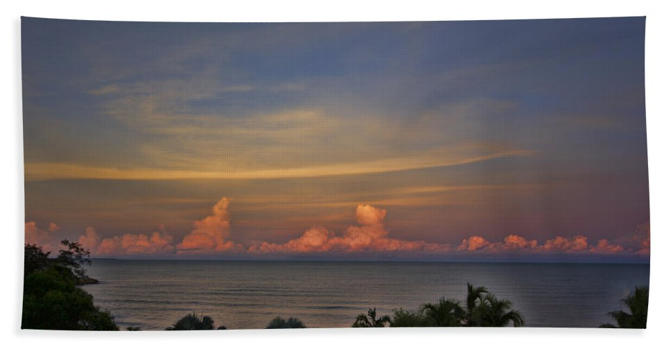 Clouds Hand Towel featuring the photograph Pink Skies by Douglas Barnard
