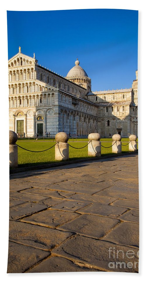 Leaning Bath Sheet featuring the photograph Pisa by Brian Jannsen
