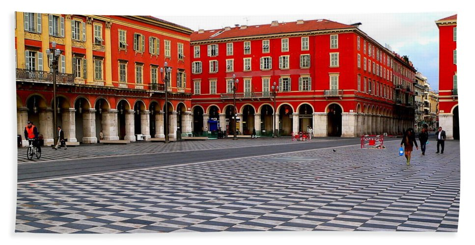 Place Massina Bath Sheet featuring the photograph Place Massina by Eric Tressler