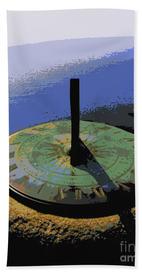 Sundial Hand Towel featuring the photograph Place Time Dimension by Lainie Wrightson