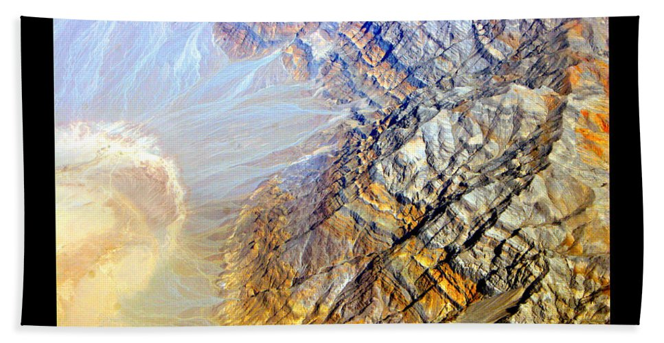 Aerial Hand Towel featuring the photograph Planet Art Eight Poster by James BO Insogna