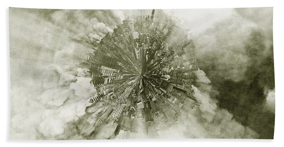 San Francisco Bath Sheet featuring the photograph Planet Wee San Fransisco 1906 Fire by Nikki Marie Smith