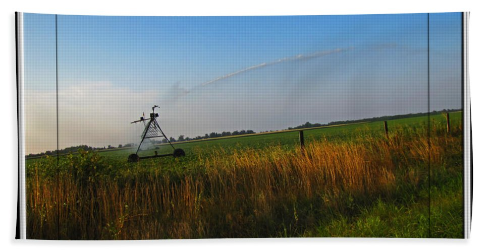 Bath Sheet featuring the photograph Playing In The Sprinkler by Debbie Portwood
