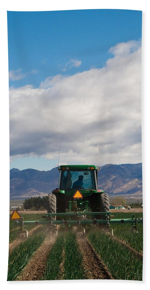 Agriculture Bath Sheet featuring the photograph Plowing Field by Sean Wray
