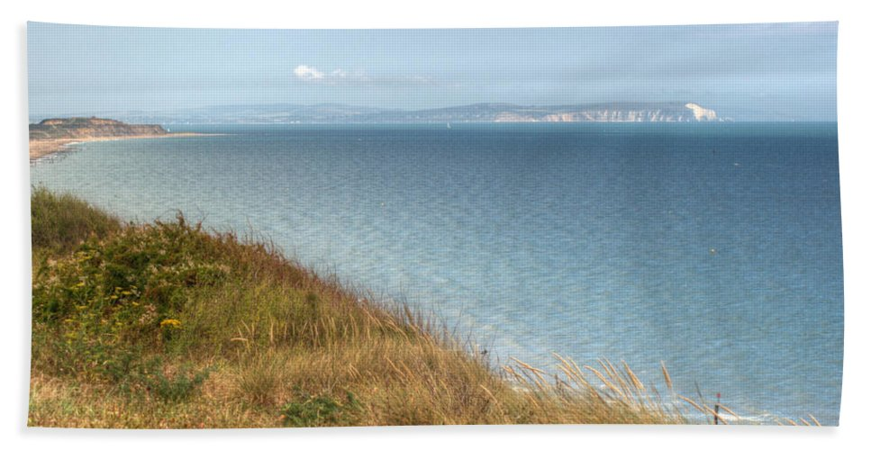 Isle Of Wight Bath Sheet featuring the photograph Point To The Polar Bear by Chris Day