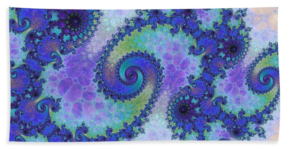 Fractal Bath Sheet featuring the digital art Polyanthus by Richard Kelly