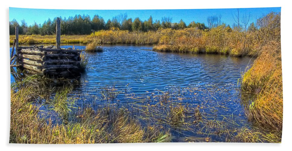 Xdop Hand Towel featuring the photograph Pond 1 Today.psd by John Herzog
