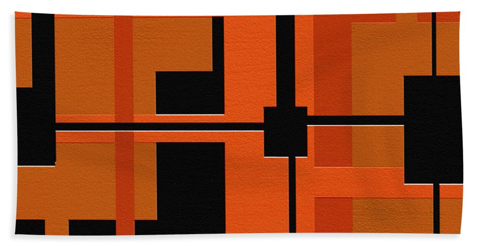 Abstract Art Bath Sheet featuring the painting Ponder by Ely Arsha