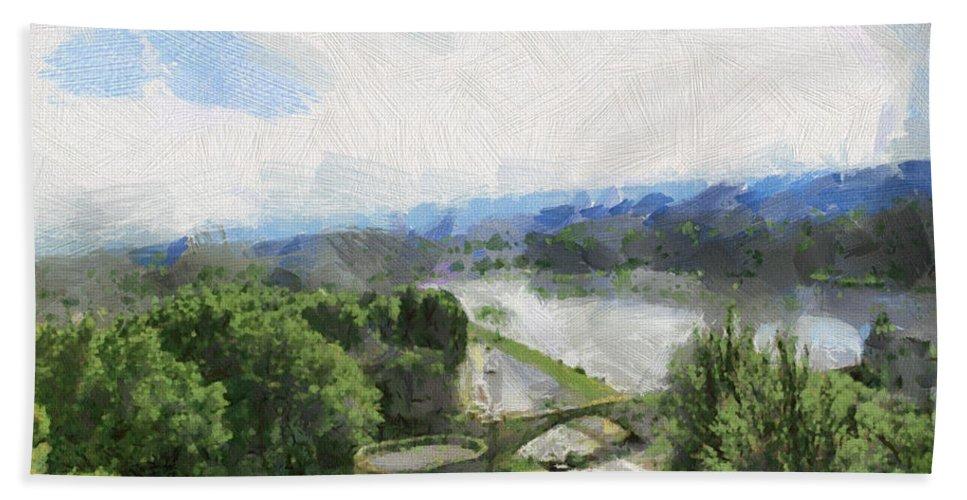 Nature Bath Sheet featuring the photograph Pont De St Benezet - Avignon by Paulette B Wright