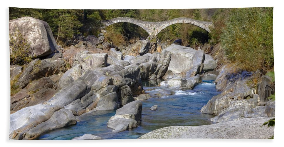 Lavertezzo Hand Towel featuring the photograph Ponte Dei Salti - Lavertezzo by Joana Kruse