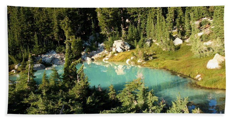 Lassen Volcanic National Park Bath Sheet featuring the photograph Pool In The Forest by Adam Jewell