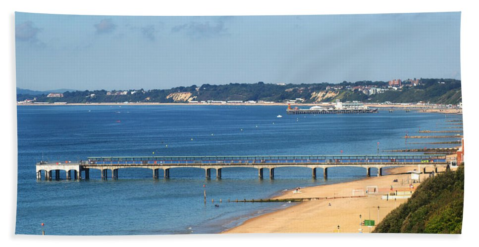 Poole Bay Hand Towel featuring the photograph Poole Bay by Chris Day