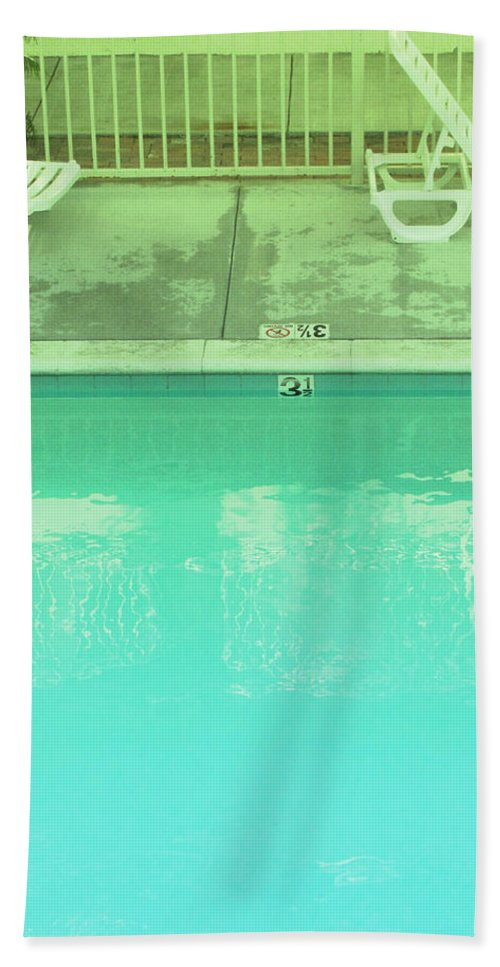 Pool Bath Sheet featuring the photograph Poolside Seating by Kathleen Grace