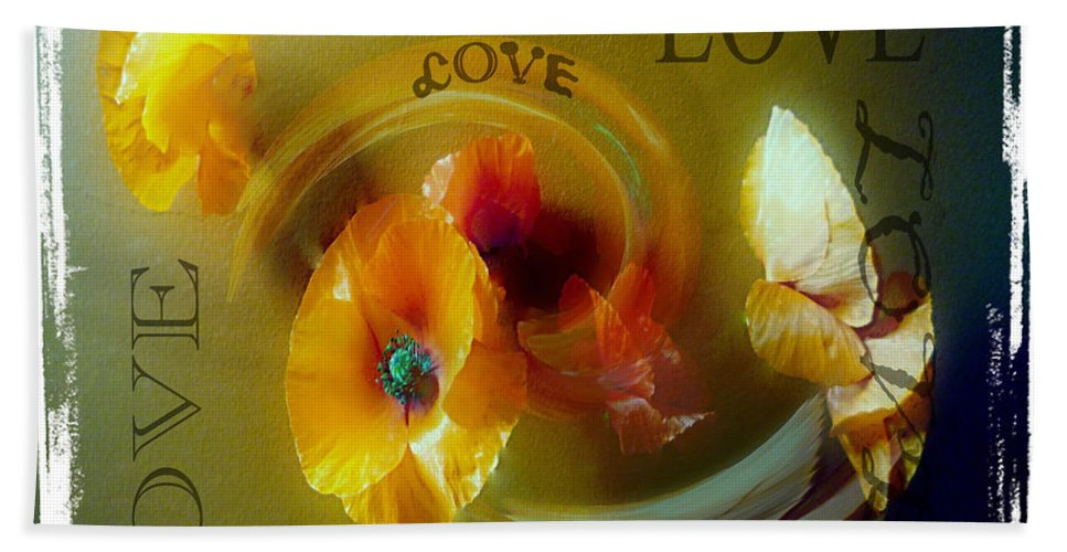 Poppy Bath Sheet featuring the photograph Poppy Love by P Donovan