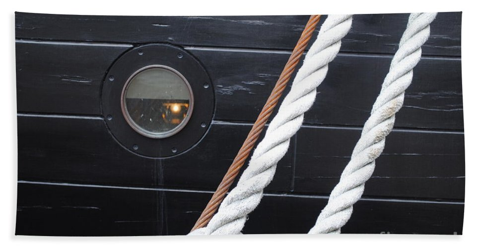 Cannons Hand Towel featuring the photograph Port Hole Constellation by Jost Houk