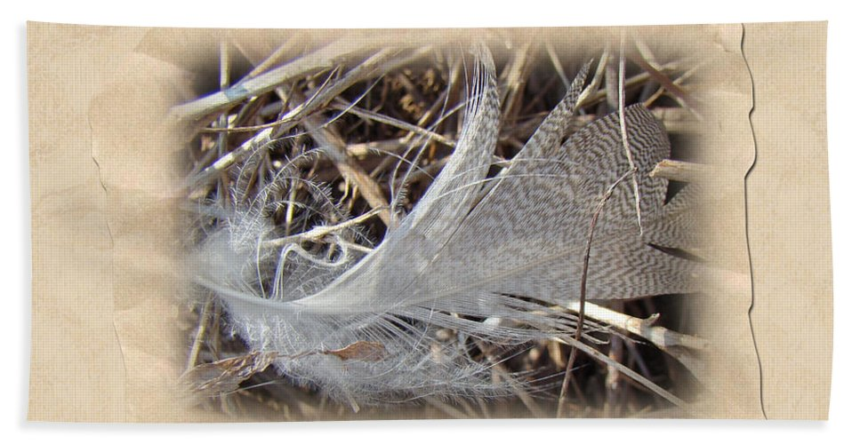 Feather Bath Sheet featuring the photograph Portrait Of A Feather by Mother Nature