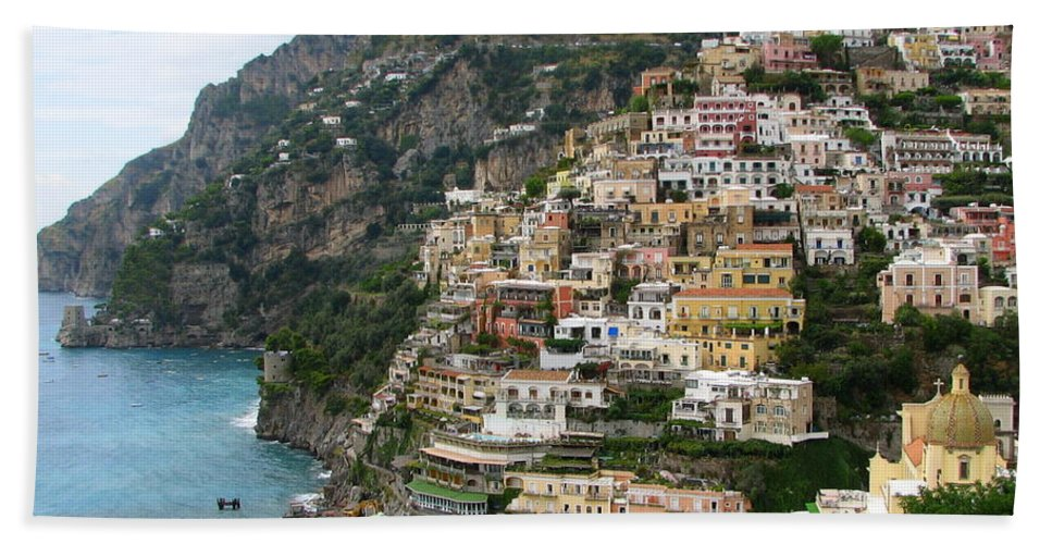 Positano Bath Sheet featuring the photograph Positano by Carla Parris