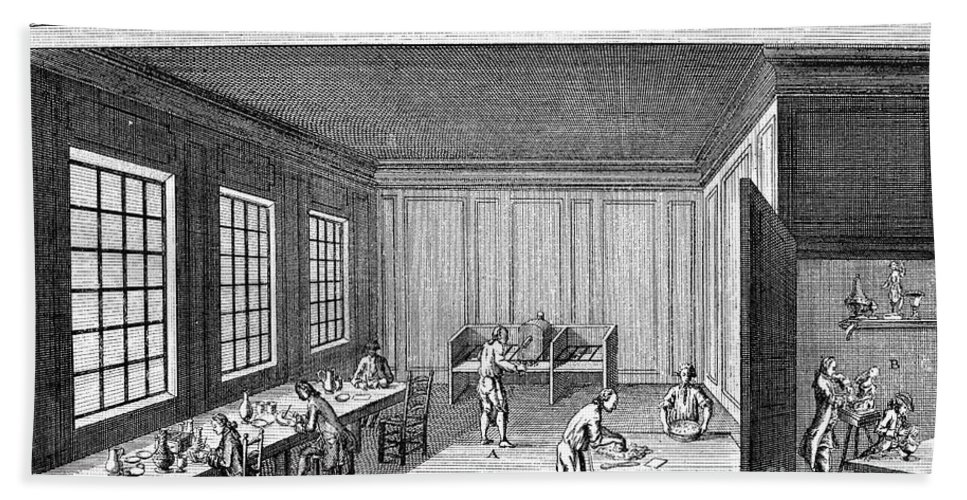 18th Century Bath Sheet featuring the photograph Pottery, 18th Century by Granger