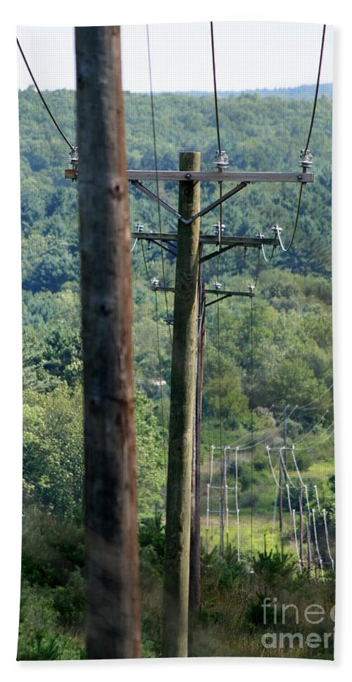 Power Lines Bath Sheet featuring the photograph Power Lines by Neal Eslinger