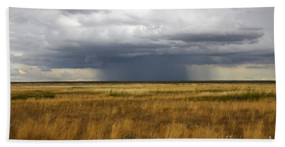 Weather Hand Towel featuring the photograph Prairie Sky by Bob Christopher